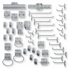 Набір тримачів Berner 49 штук, перфоровані пластини