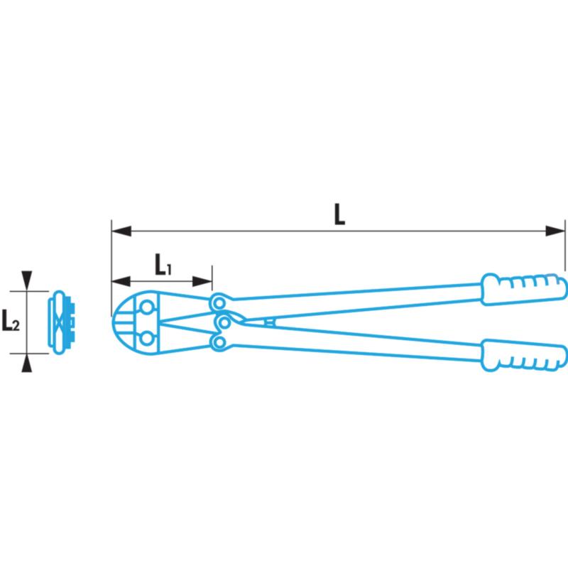 Болторез, длина: 750 мм