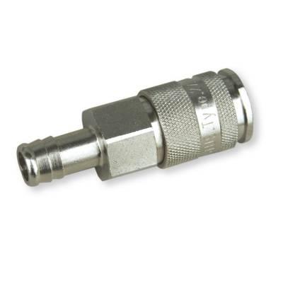 Швидкороз'ємна латунна муфта 10 мм зі з'єднанням для шланга