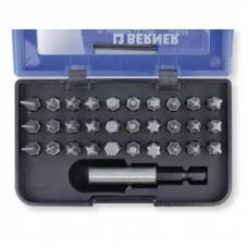 Набір біт 1/4 '' 31 шт з магнітним держателем для біт в пластиковому кейсі (LS, PH, PZD, TX, HEX)