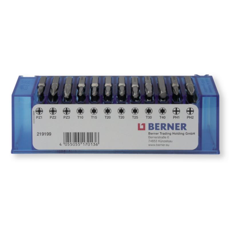 Набір біт 1/4'' 48 шт з магнітним держателем для біт в пластиковому кейсі (TX, PH, PZD)