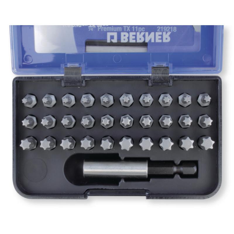 Набір біт 1/4 '' TX 31 шт. з магнітним держателем для біт в пластиковому кейсі