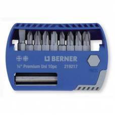 Набір біт 1/4 '' 10 шт з магнітним держателем для біт в пластиковому кейсі (LS, PH, PZD)