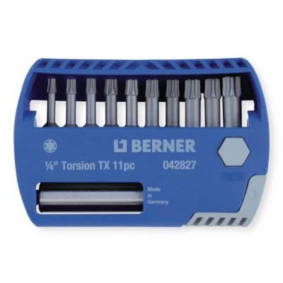 Набір біт 1/4'' TX 10 шт. з магнітним утримувачем в пластиковому кейсі