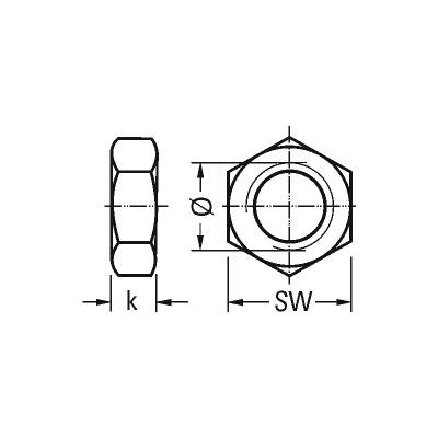 Гайка шестигранна DIN 934-10, оцинкована