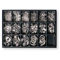 Набір алюмінієвих кілець в ящику 1300шт Berner