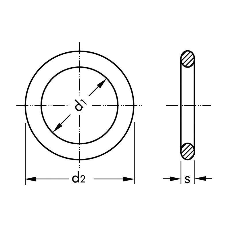 Набір гумових ущільнювальних кілець в металевому кейсі