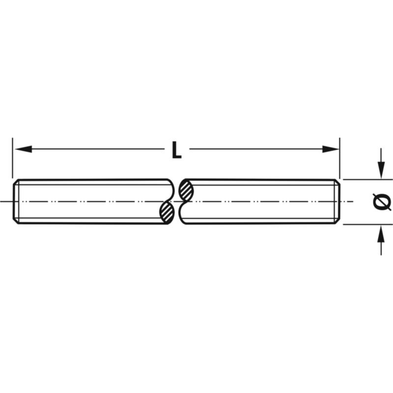 Шпилька різьбова DIN 976-1 міцність 10.9, оцинкована, 1м