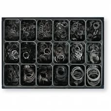 Набір зовнішніх стопорних кілець в ящику, 18 розмірів, 975 шт.