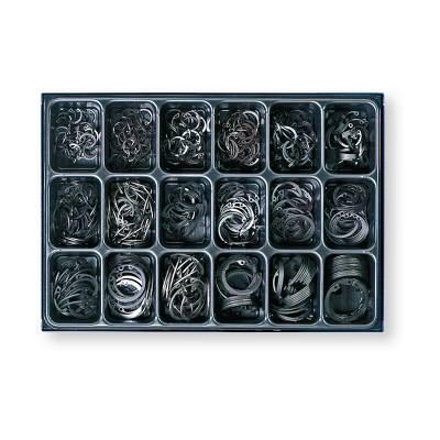 Набір внутрішніх стопорних кілець в ящику DIN 472 , 18 розмірів, 650 шт.