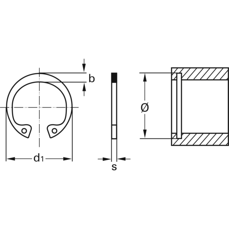 Стопорні кільця внутрішні DIN 472