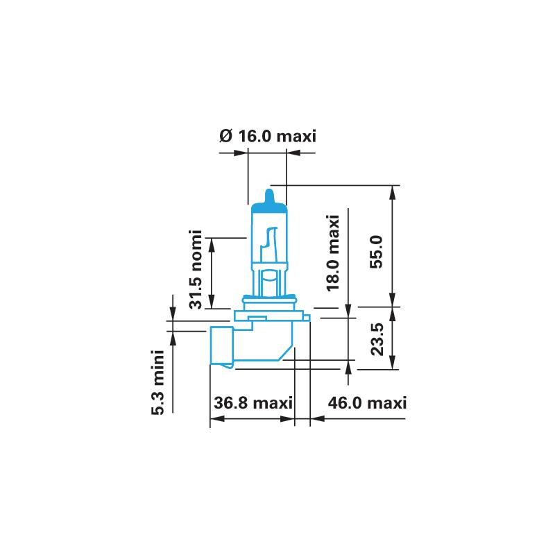 Лампа галогенна HB3