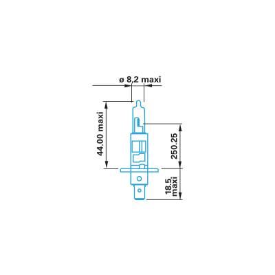 Лампа галогенна H1, 12 В , 55 Вт, (P 14,5) с Berner