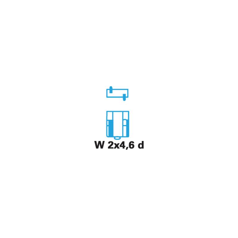 Лампи зі скляним цоколем W2 x 4,6d