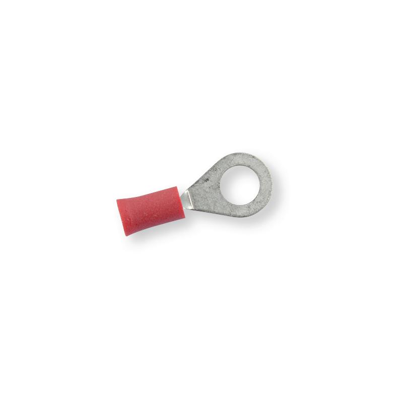 Клемма обжимная изолированная кольцевая красная Ø 6,5 мм