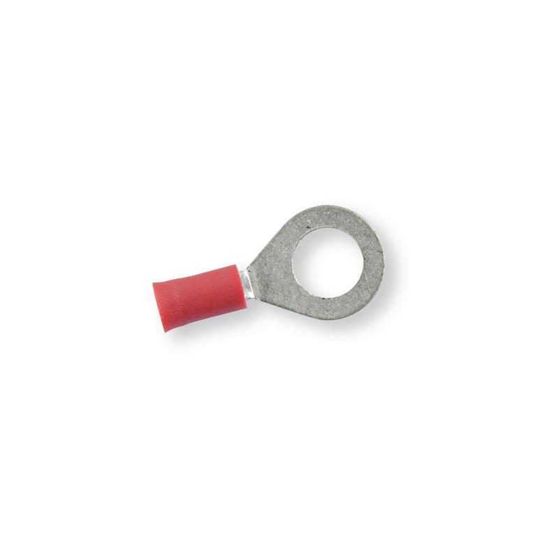 Клемма обжимная изолированная кольцевая красная Ø 8,4 мм