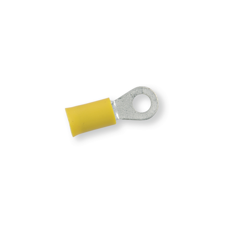 Клемма обжимная изолированная кольцевая желтая Ø 5,3 мм