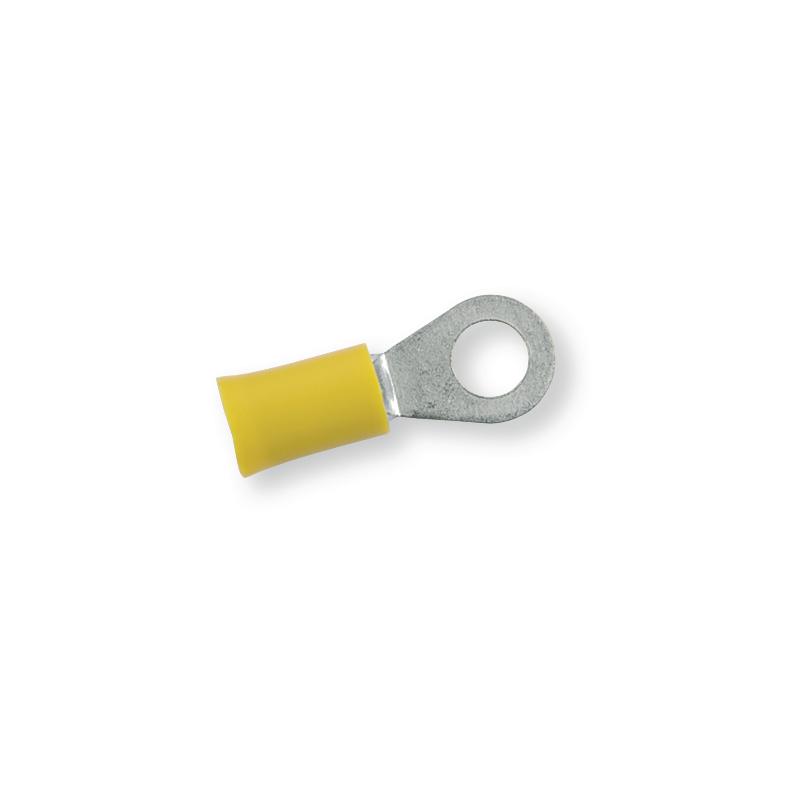 Клемма обжимная изолированная кольцевая желтая Ø 6,4 мм