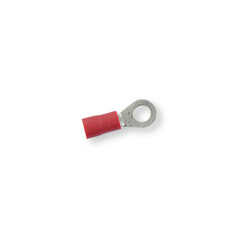 Клемма обжимная изолированная кольцевая красная Ø 5,3 мм