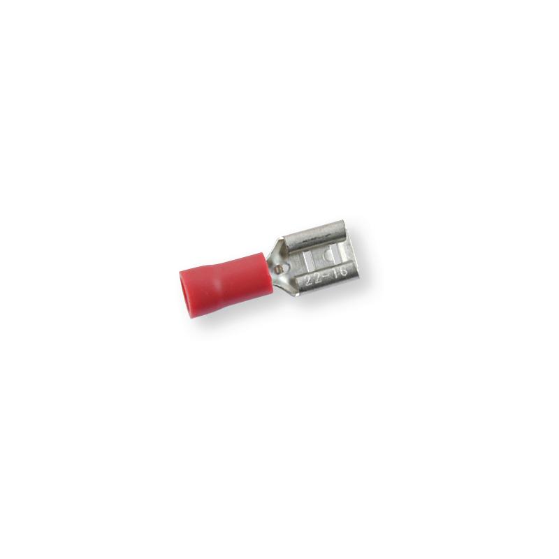 Клемма обжимная изолированная МАМА красная 6,3х0,8 мм
