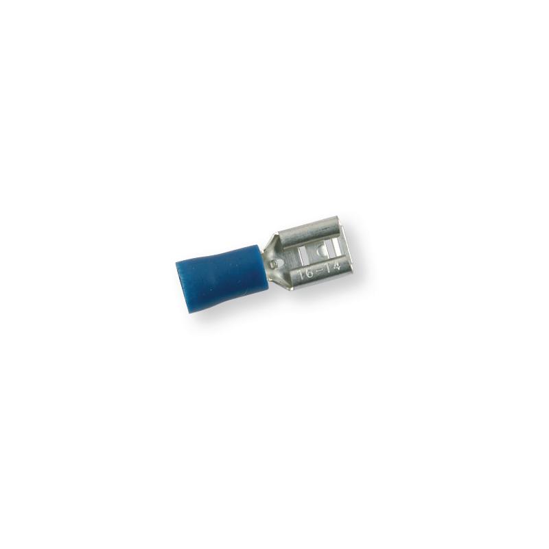 Клемма обжимная изолированная МАМА синяя 6,3х0,8 мм