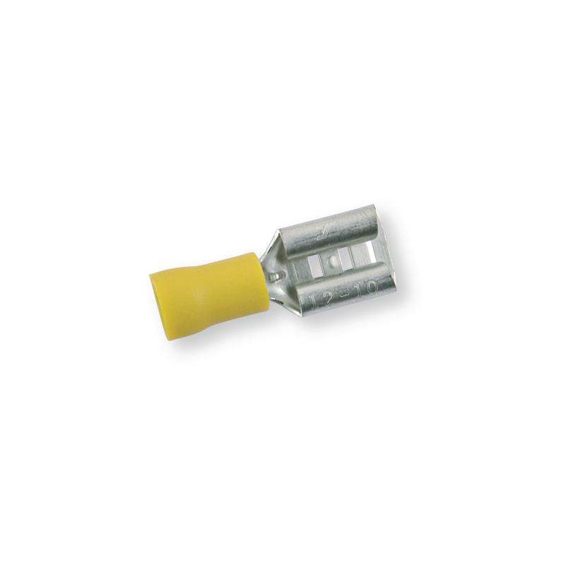 Клемма обжимная изолированная МАМА желтая 9,5х1,2 мм