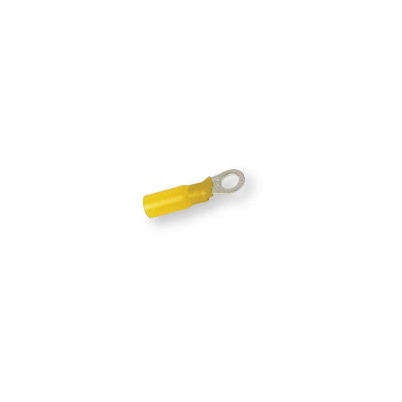 Клемма термоусадочная кольцевая желтая Ø 6,4