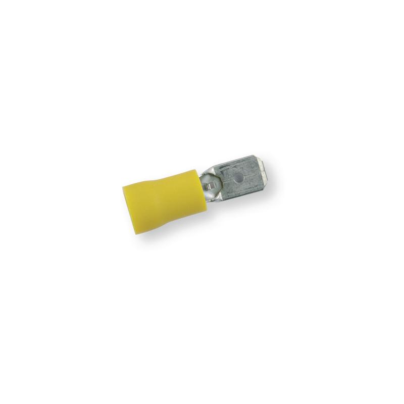 Клемма обжимная изолированная ПАПА желтая 6,3х0,8 мм