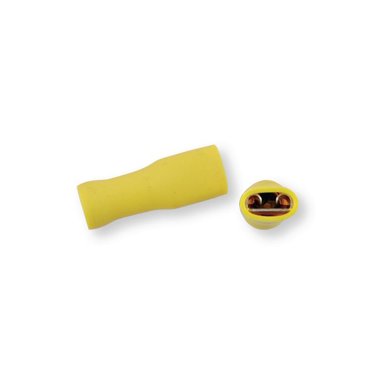 Клемма обжимная полностью изолированная МАМА желтая 6,3х0,8 мм
