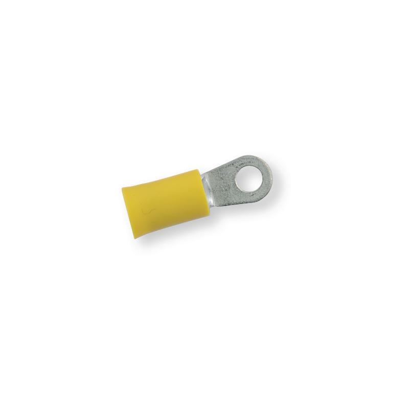 Клемма обжимная изолированная кольцевая желтая Ø 4,3 мм