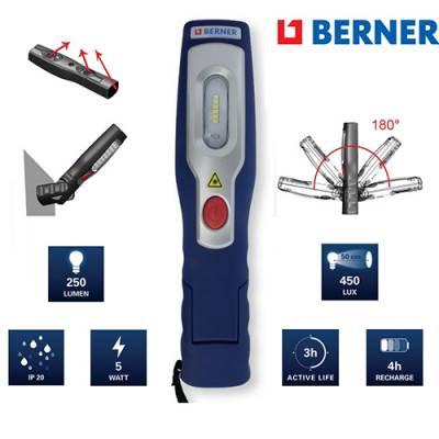 Акумуляторна LED лампа Berner LUX BRIGHT
