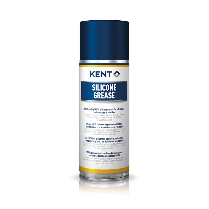 Густе мастило-спрей для гумових та пластикових елементів Kent, 100% силікон, 400 мл