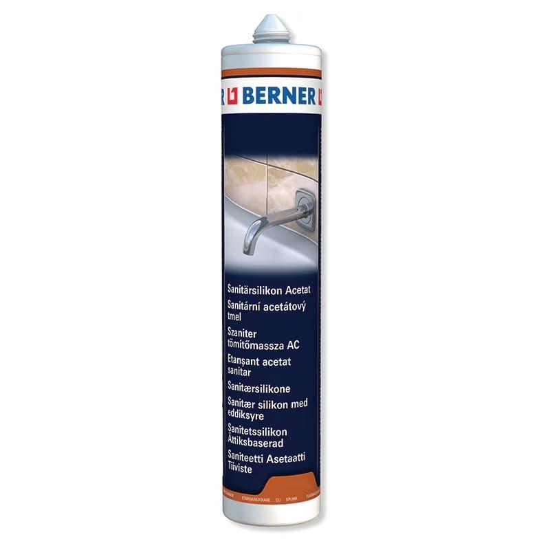 Санітарний ацетатний герметик Berner, 310 мл