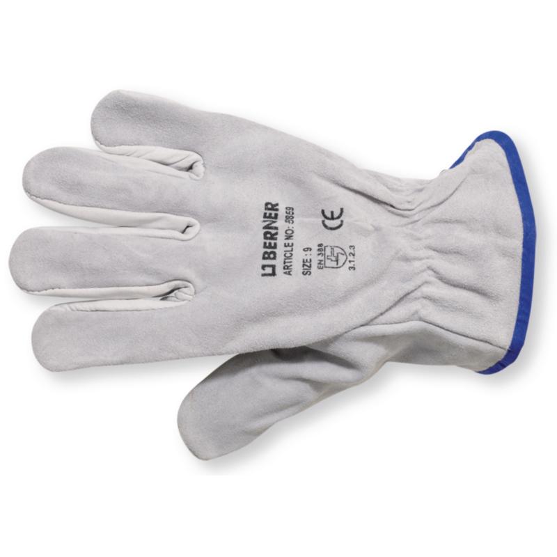 Робочі рукавиці з комбінованої шкіри