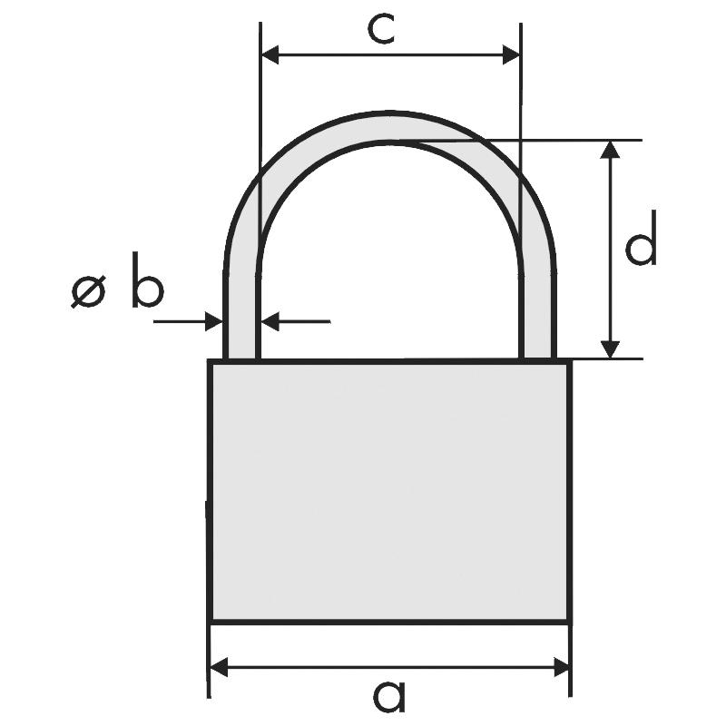 Кодовий навісний замок латунний